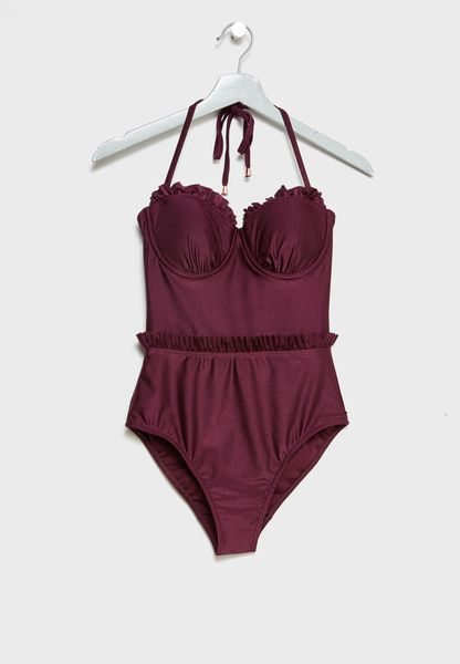 Cupped Ruffle Swimsuit