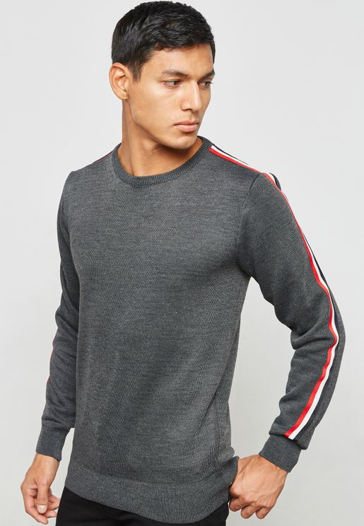 Sport Tape Knit Jumper