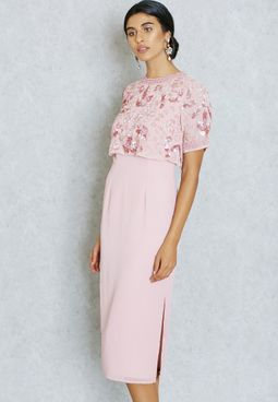 Frock and Frill Embroidered Layered Dress