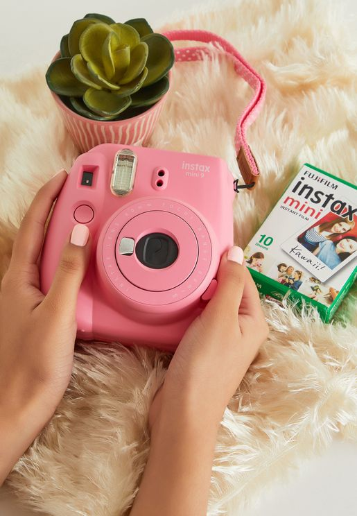 Mini Flamingo Instax Camera + Instax Mini Film