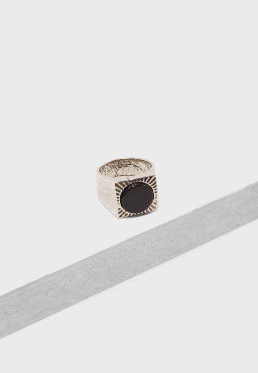 خاتم بلؤلؤة سوداء