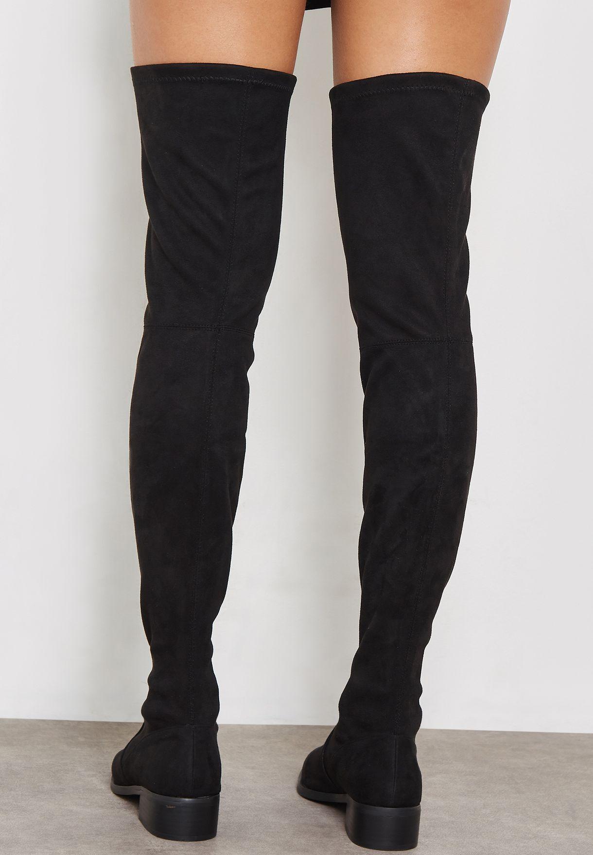 a01c72e0cf8 Shop Steve Madden black Jestik Knee Boot JESTIK for Women in UAE ...