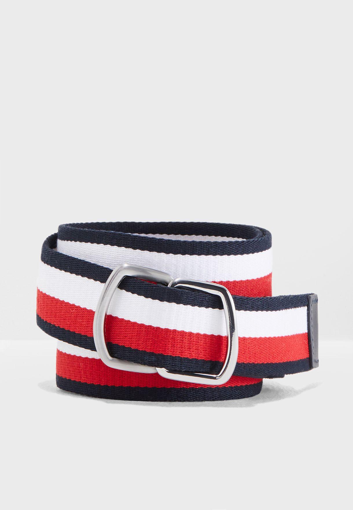 17e19ea99f0 Shop Tommy Hilfiger multicolor D-Ring Webbing Belt AM0AM04063 for Men in  Oman - TO279AC14KSJ