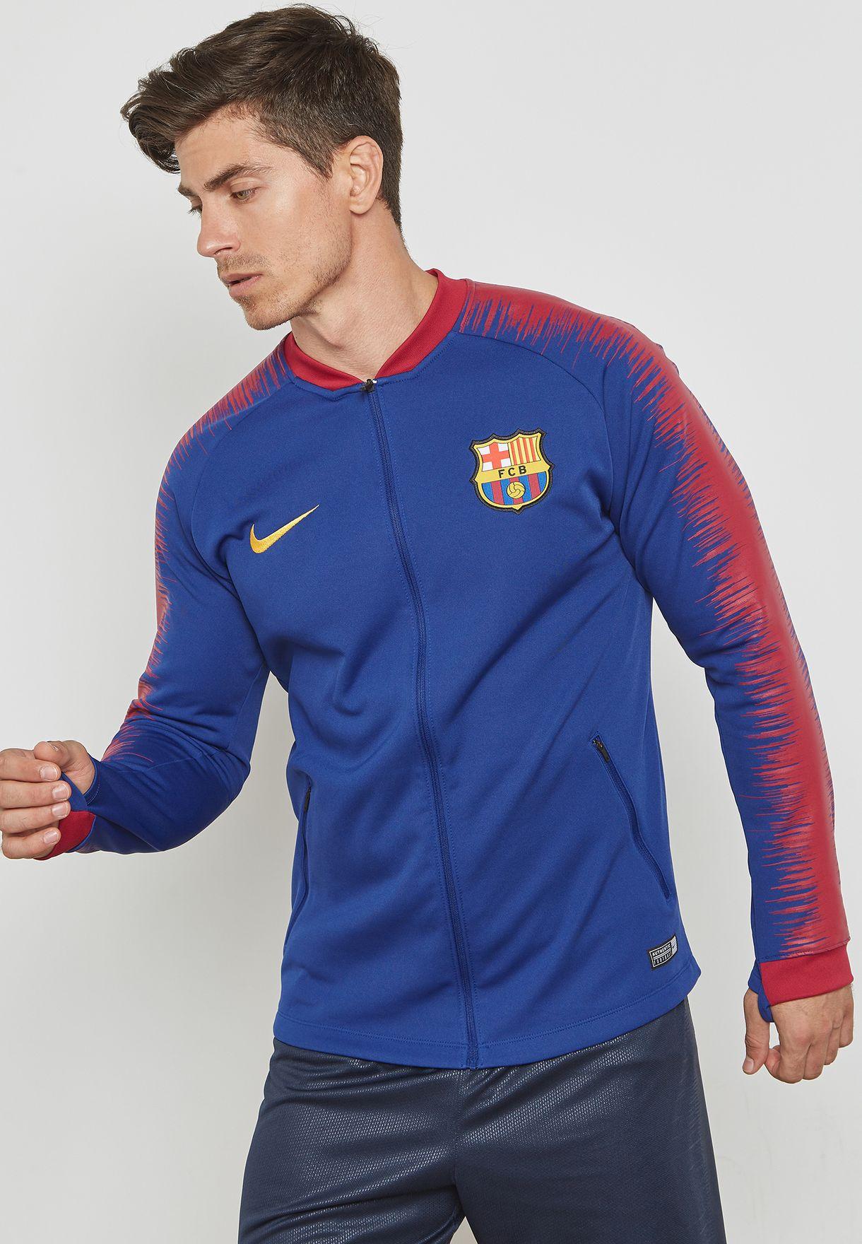 Shop Nike blue FC Barcelona Anthem Jacket 894361-456 for Men in Saudi -  NI727AT14KCB 057dcb448