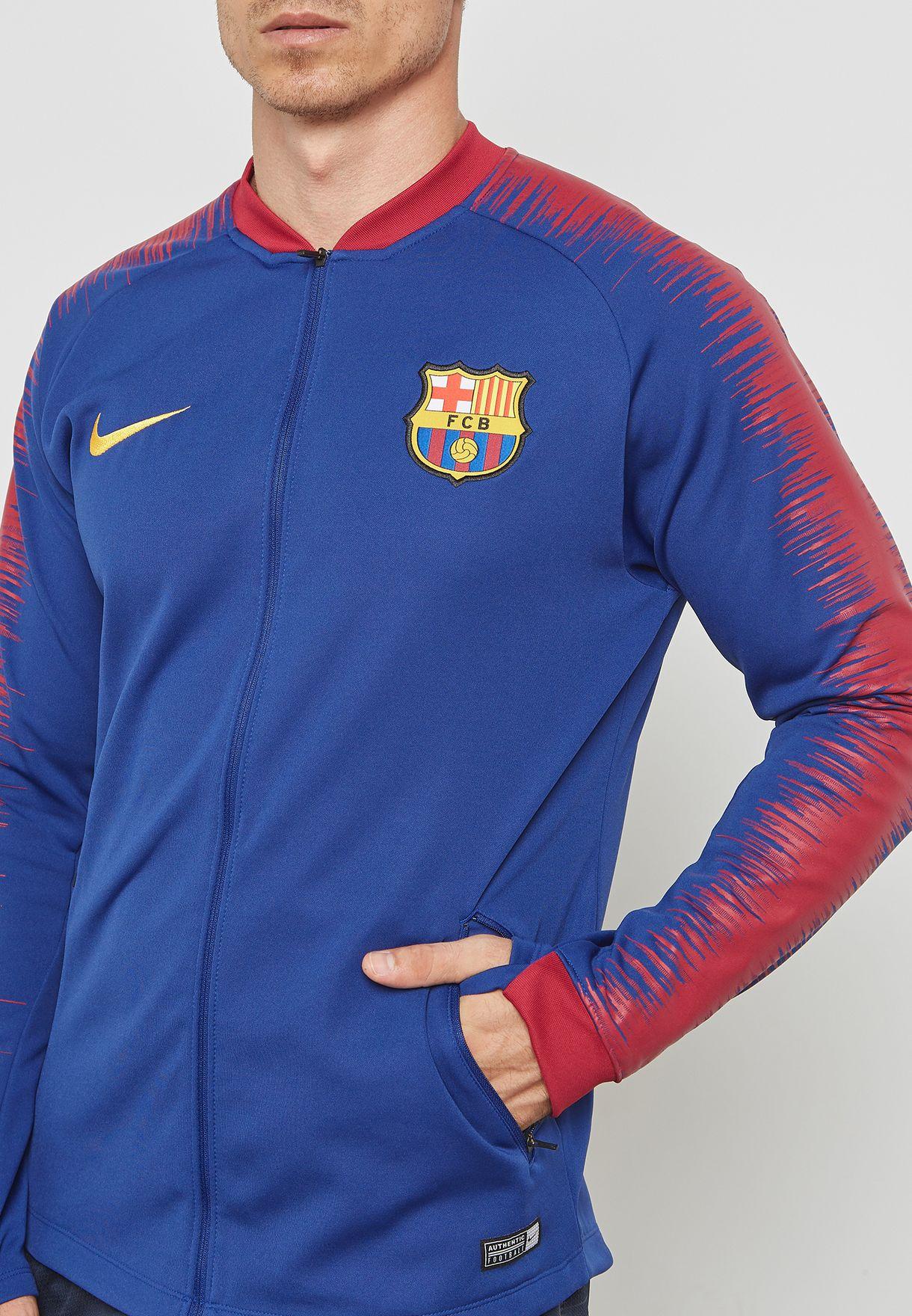 2ae4378af Shop Nike blue FC Barcelona Anthem Jacket 894361-456 for Men in UAE ...