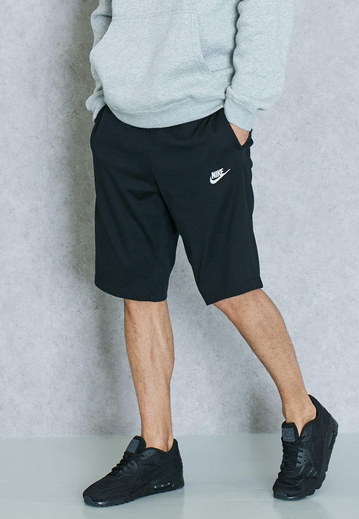 b0eb2f485b7a Shop Nike black Club Jersey Shorts 804419-010 for Men in UAE ...