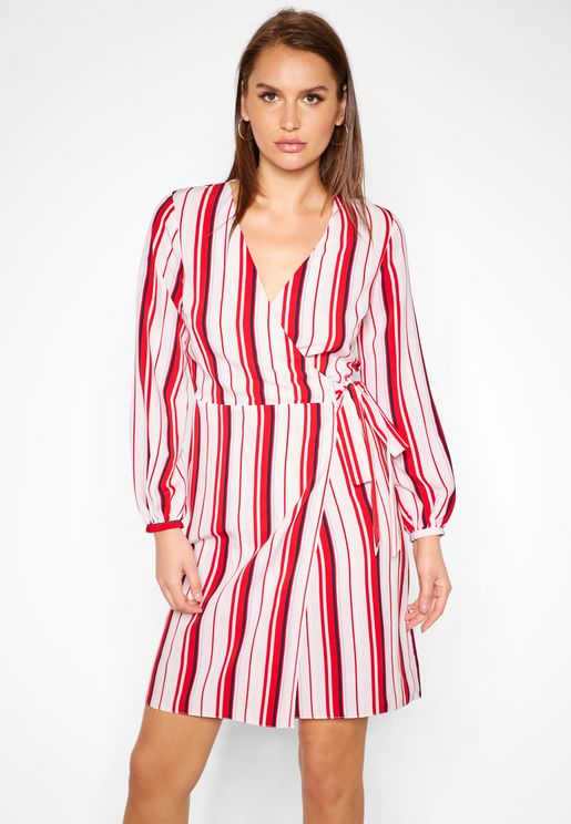 Stripe Wrap Midi