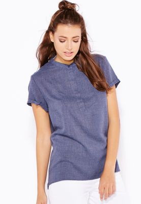 Ginger Roll Sleeve Top