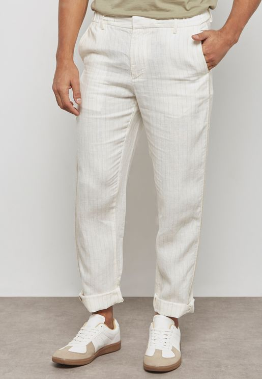 Scalop Striped Trousers