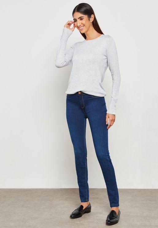 Frankie High Rise Super Skinny Jeans