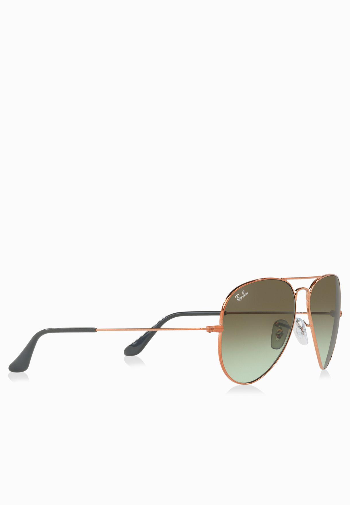 4f52d9e1236 Shop Ray-Ban bronze 0RB3025 Gradient Aviators 8053672731668 for Men ...