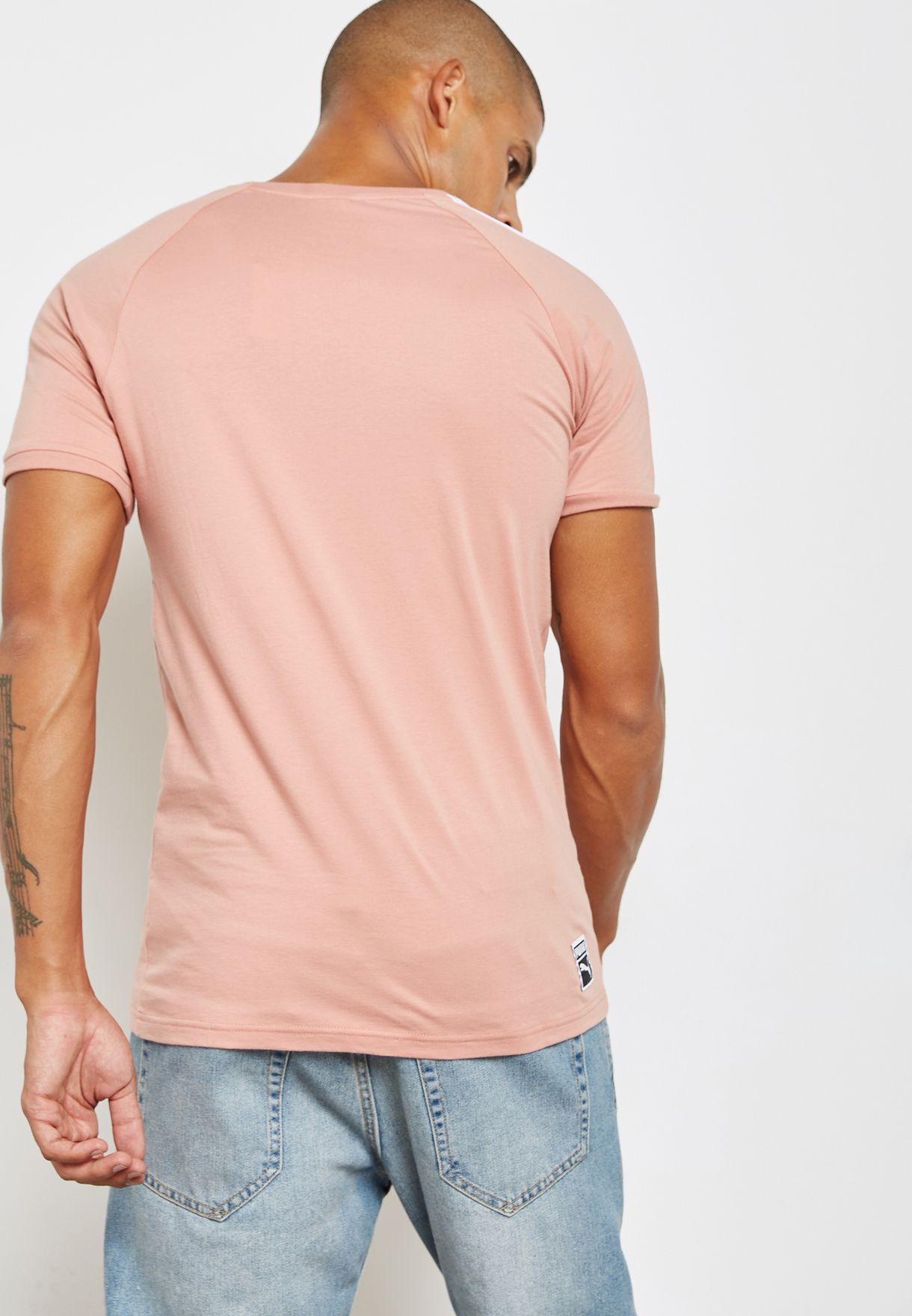 c5bf89d571c Shop PUMA pink T7 Slim Cut T-Shirt 57551528 for Men in Saudi ...