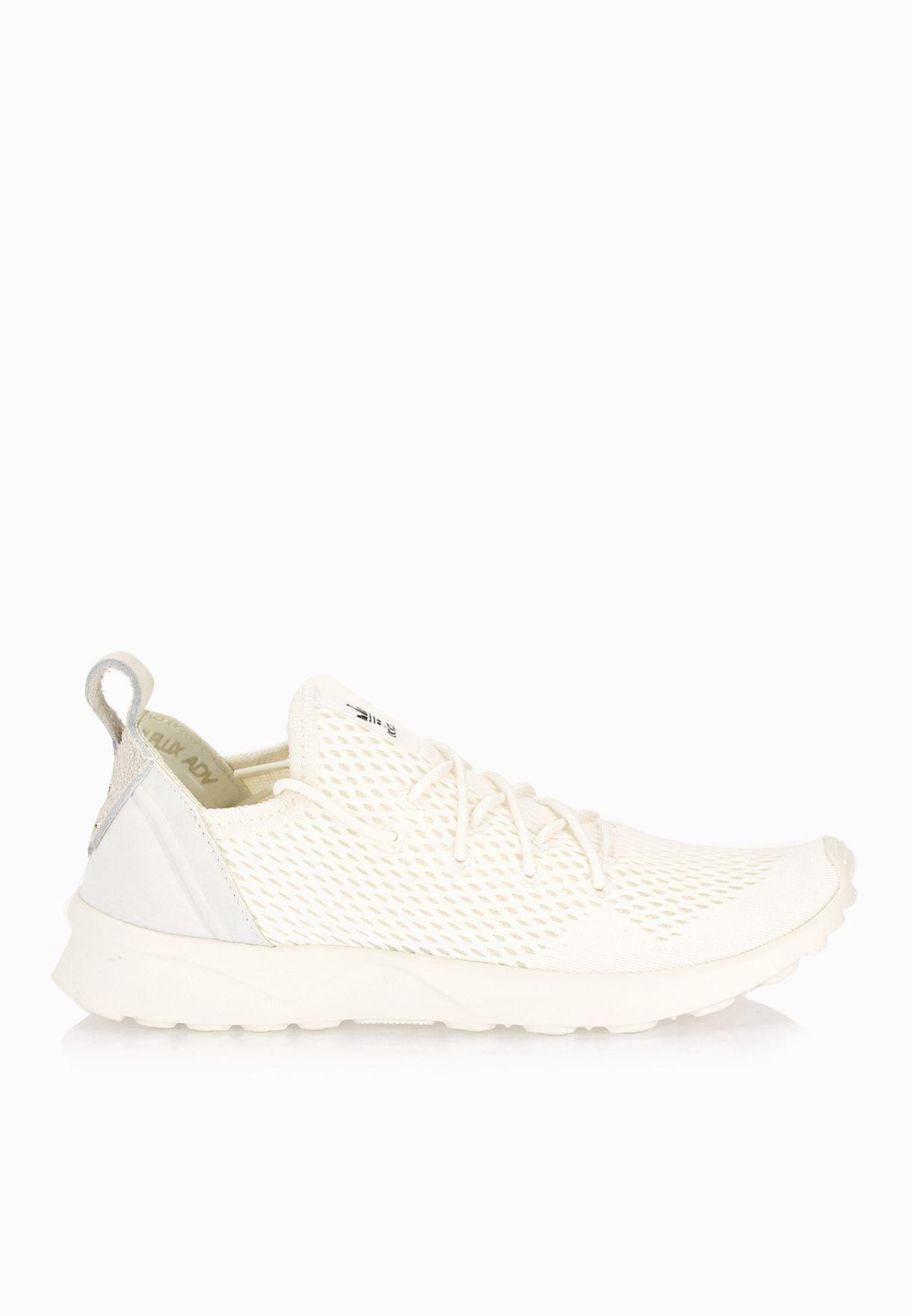 052e45043f653 Shop adidas Originals white Zx Flux ADV Virtue BB4247 for Women in ...