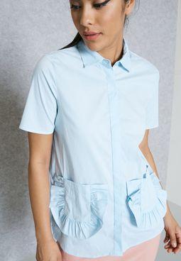 Ruffle Pocket Shirt