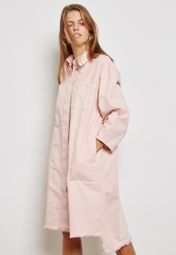 Shop Waven pink Wolf Embroidered Shirt Dress SIGVOR for Women in Qatar -  WA703AT14TOJ