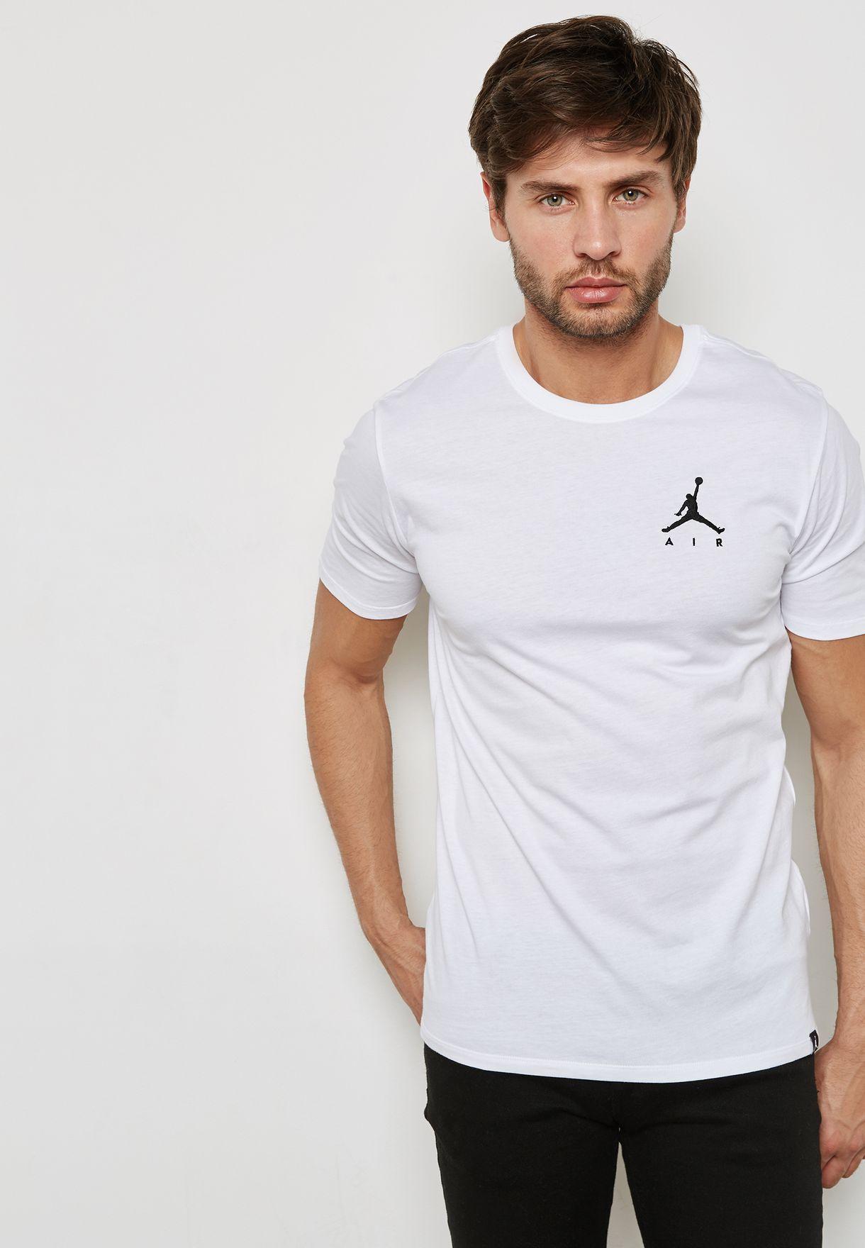 2a362c5c Shop Nike white Jordan Air Jumpman T-Shirt AH5296-100 for Men in ...
