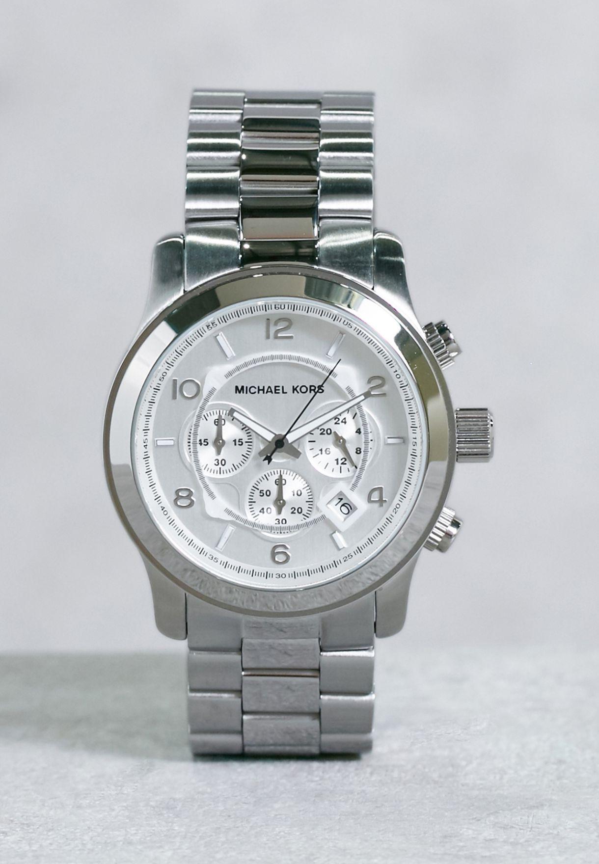 8245ffe5f09e Shop Michael Kors silver Runway Watch MK8086 for Men in UAE ...