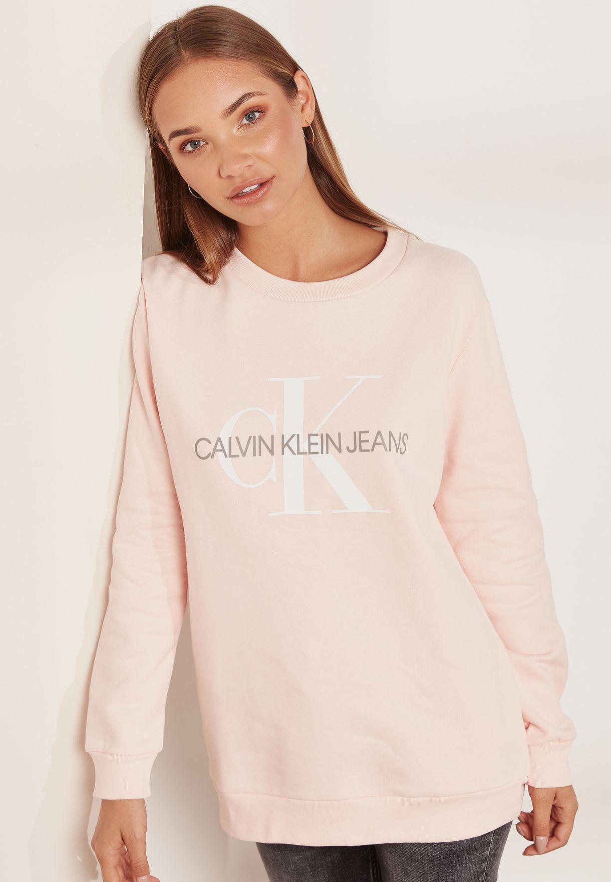 a5f7183121c Shop Calvin Klein Jeans pink Logo Sweatshirt J20J207830 for Women in UAE -  CA294AT14UWV