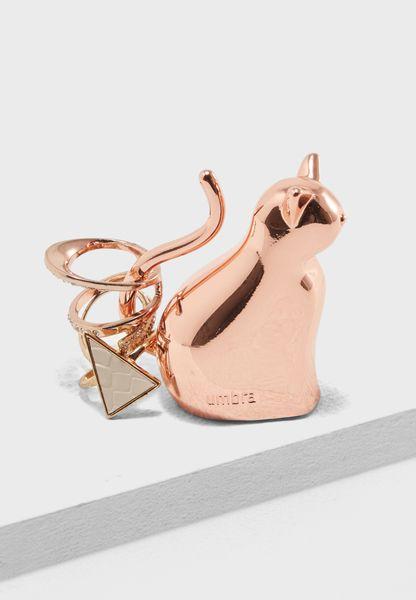 Anigram Cat Ring Holder