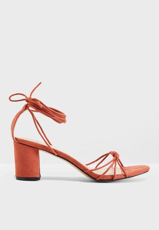 Breeze Strappy Mid Heel Sandal