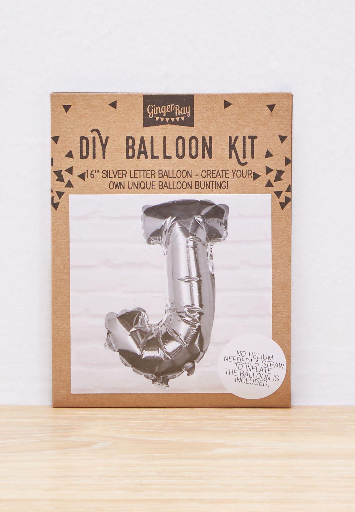 J Initial Foil Balloon