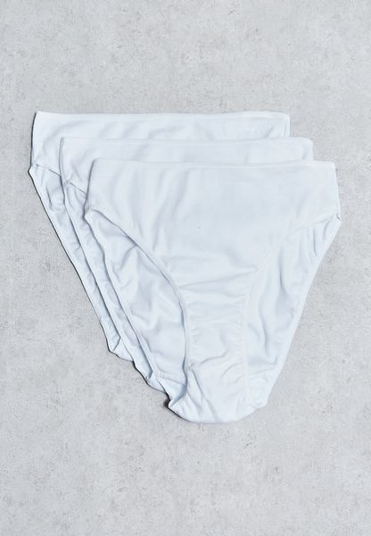 3 Pack Ribbed High Waist Brief