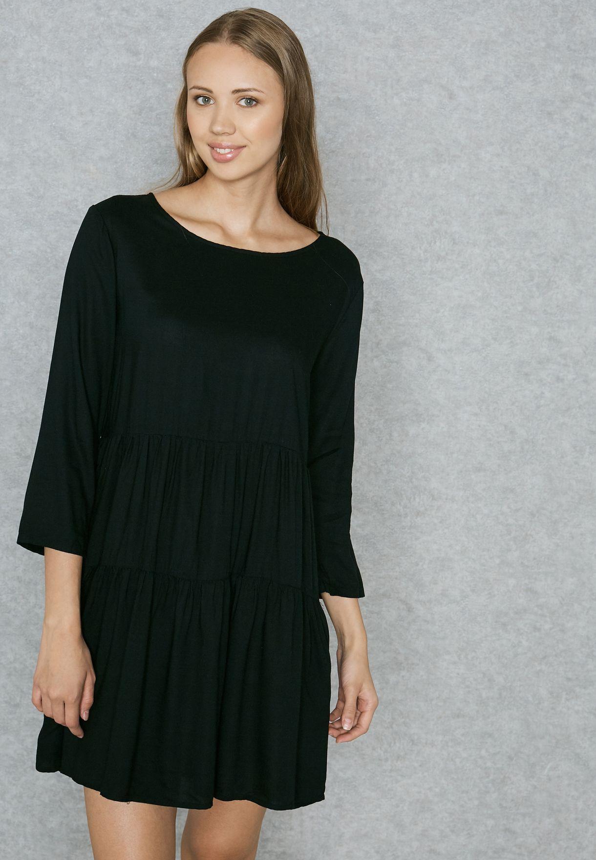 3dc02867016 Shop Jacqueline De Yong black Frill Mini Dress 15138742 for Women in ...