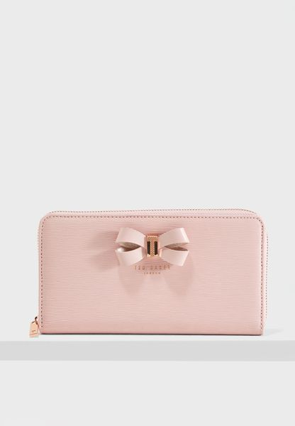 Lizzi Bow Detail Zip Purse