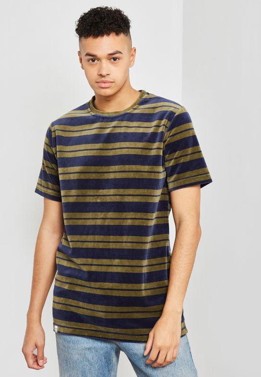 Dean Striped Crew Neck T-Shirt
