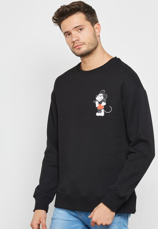Mickey Mouse Embroidery Sweatshirt