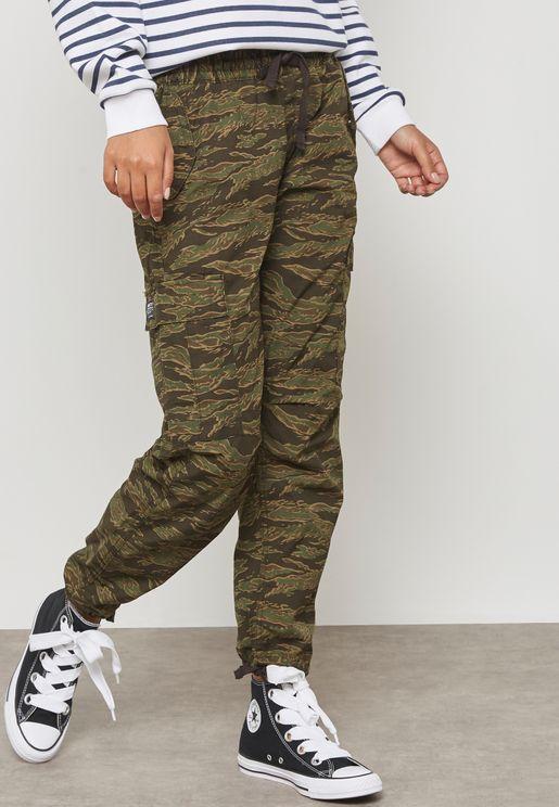 Ankle Grazer Camo Print Pants