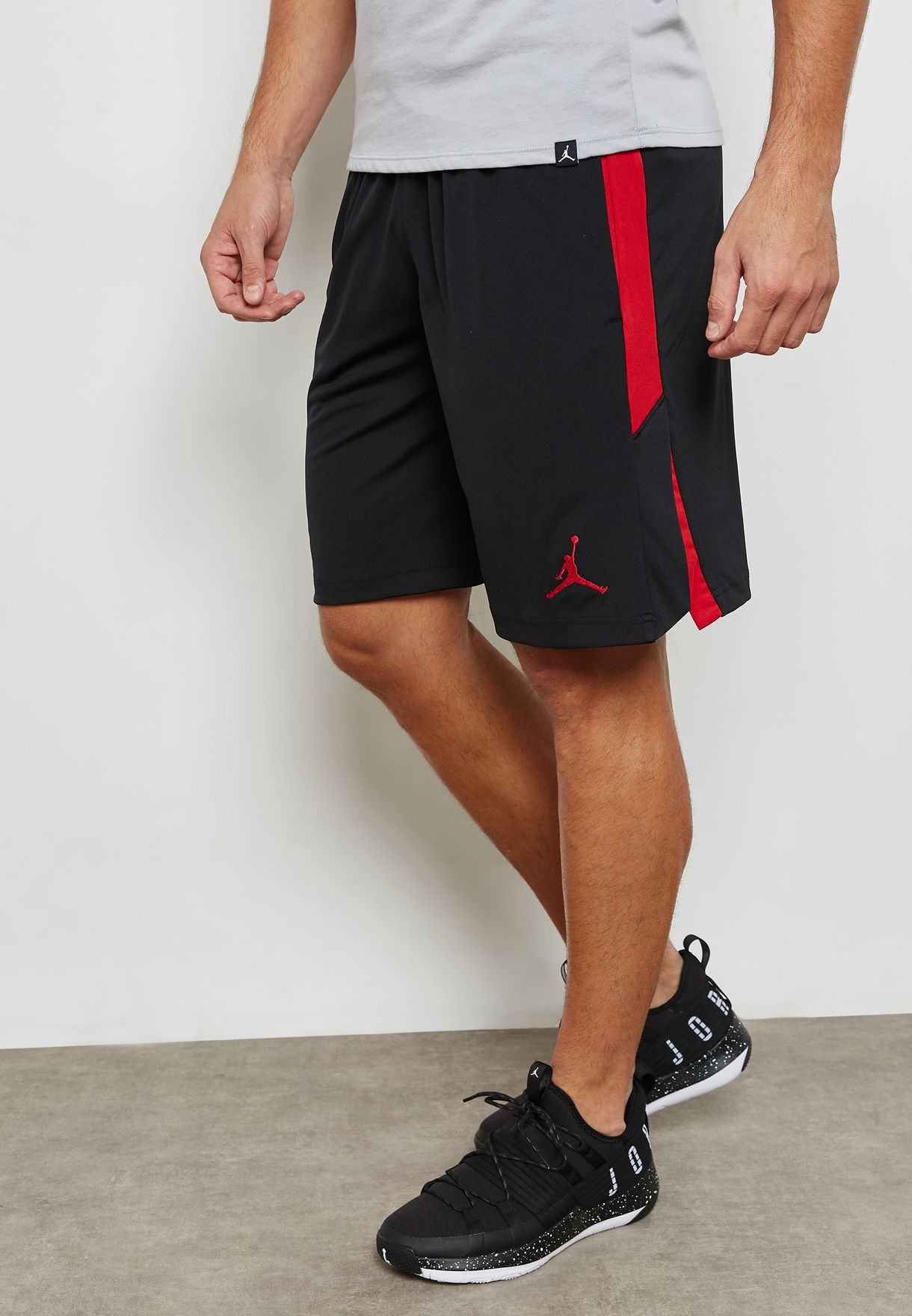 8e15b6df163 Shop Nike black Jordan Dri-FIT 23 Alpha Knit Shorts 905782-010 for ...