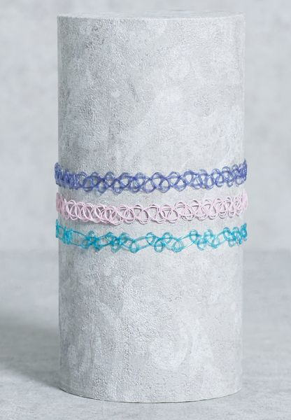 3 Pack Pastel Tattoo Necklace