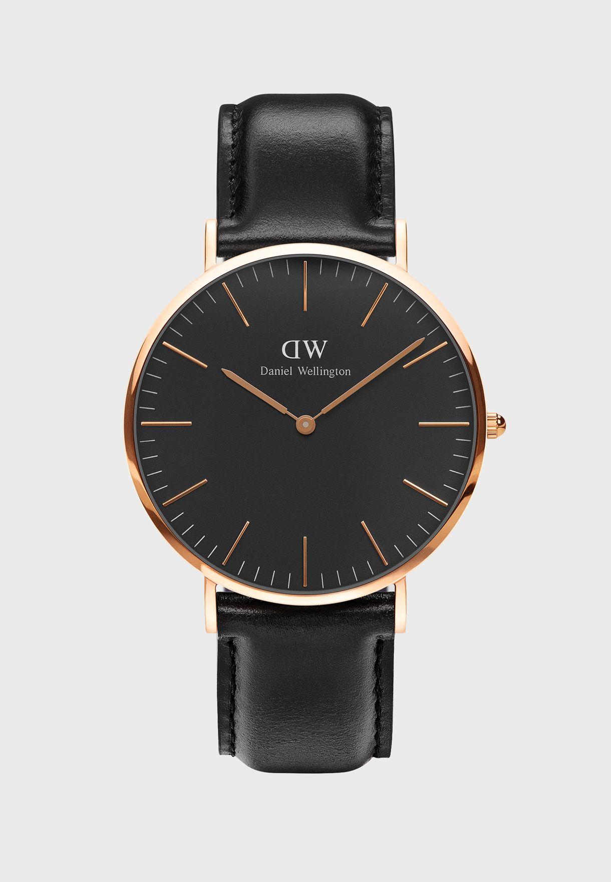 4eb32ace5978c تسوق ساعة شيفيلد الكلاسيكية ماركة دانيال ولينغتون لون أسود ...