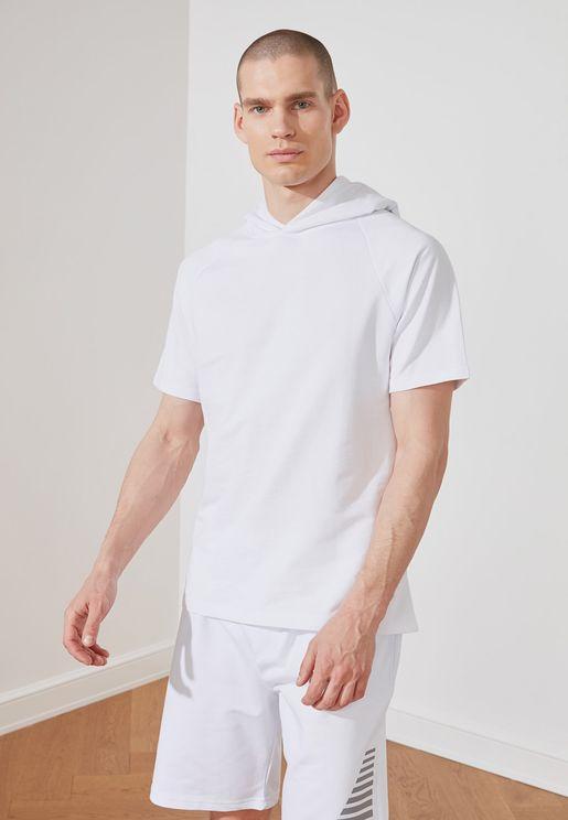 Essential Short Sleeve Hoodie