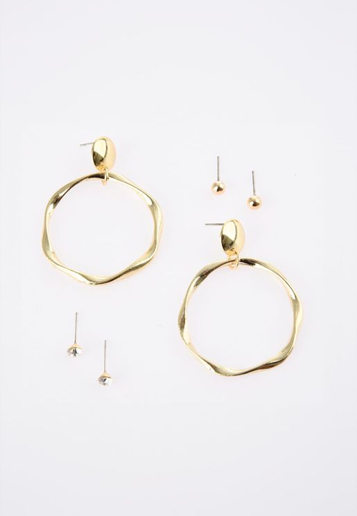 Ring Detail Multi Bijouterie Earring