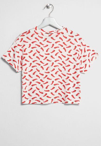 Tween Printed Crop Top