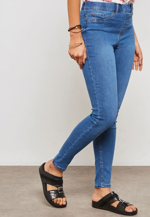 Mid Rise Medium Wash Jeggings