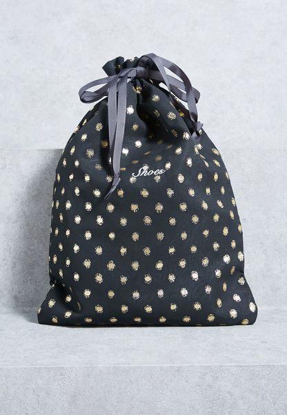Lula Embroidered Shoe Bag