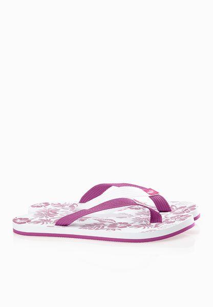 Puma Dedo II UK Coastal  Purple White Flip Flops - Women