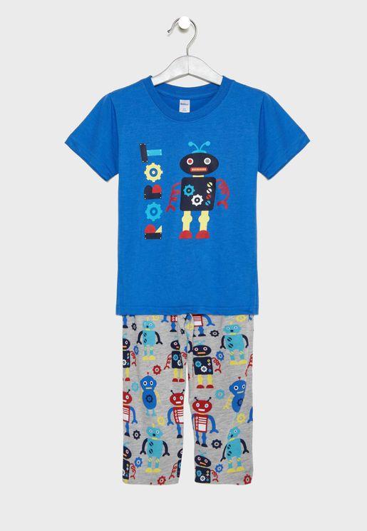 Little Robot Pyjama Set