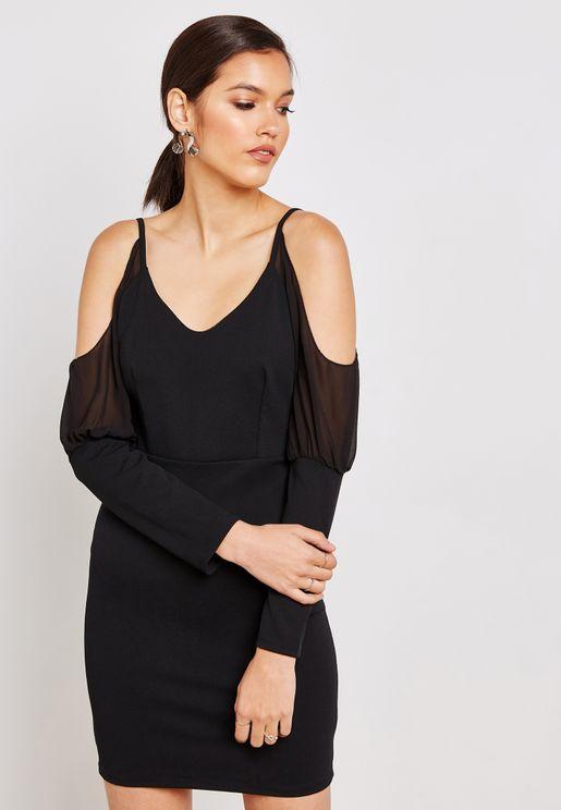 Cold Shoulder Detail Dress