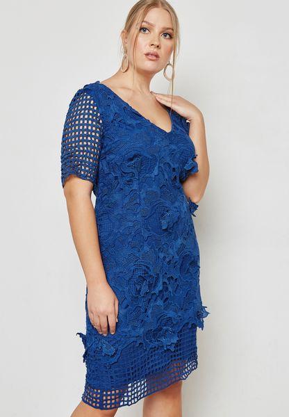 Lazer Cut Lace Dress