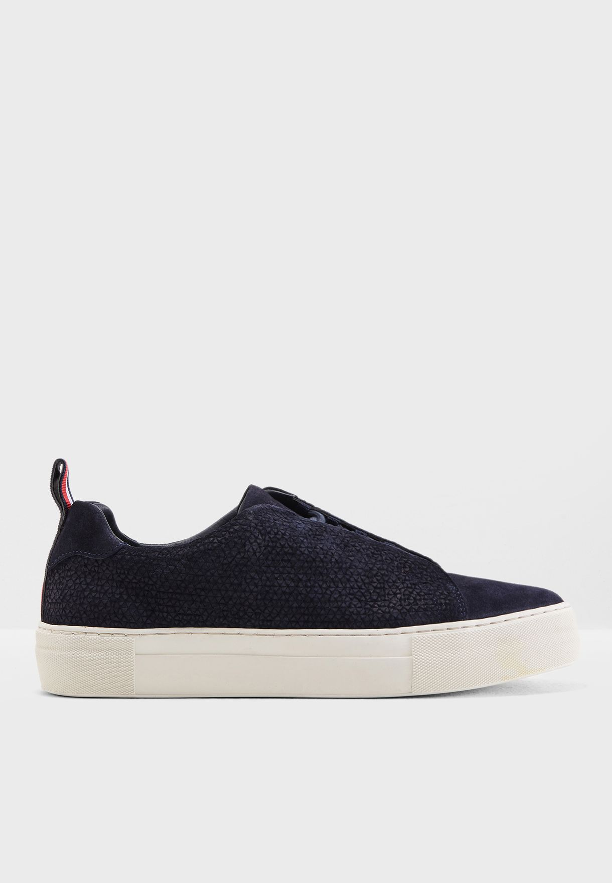 52983c101532 Shop Tommy Hilfiger navy Fashion Suede Cupsole Sneakers FM0FM01816 ...