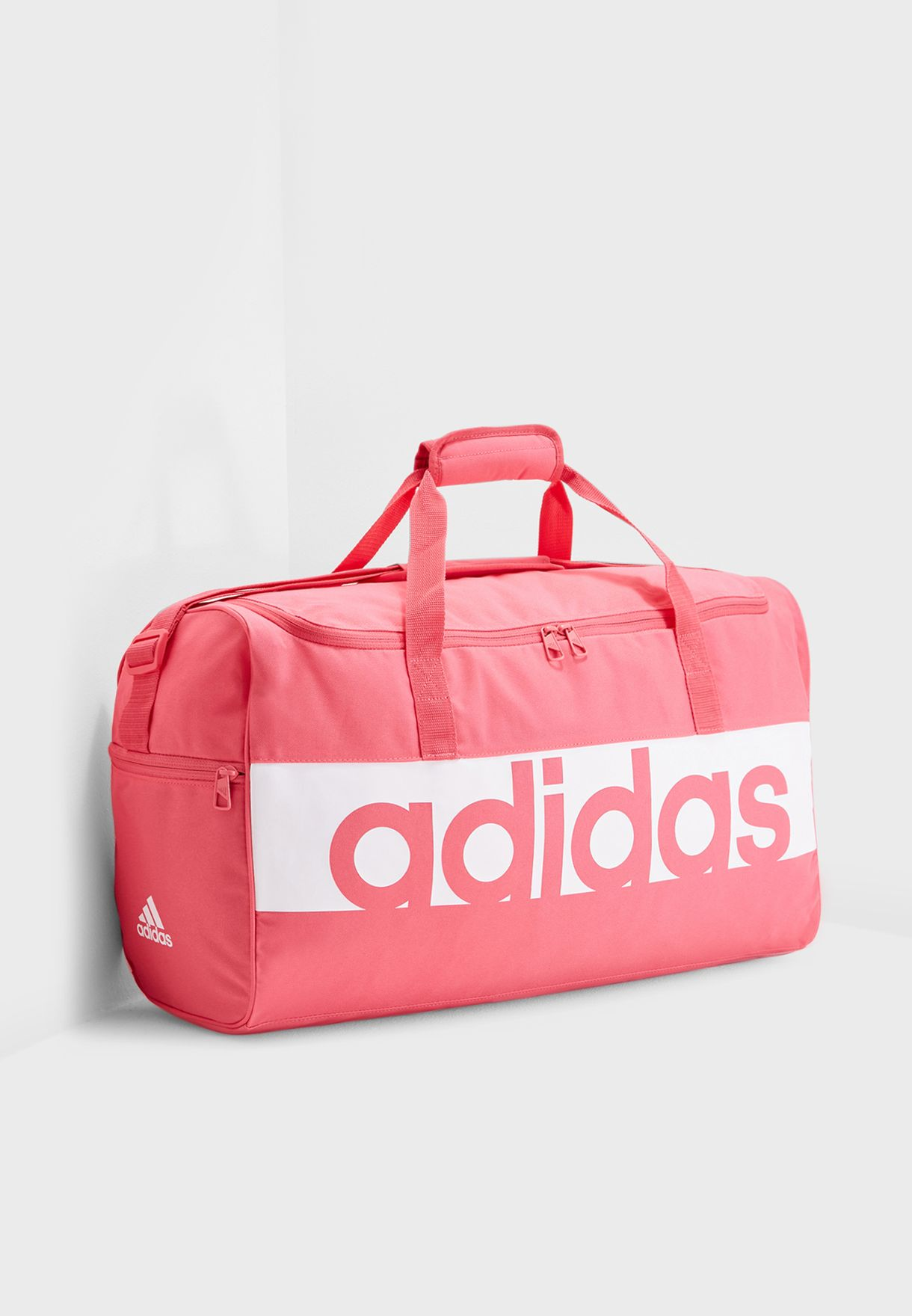 2a8cc93c40c6 Shop adidas pink Medium Linear Performance Duffel + Gymsack DM7648 ...