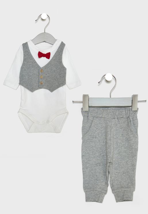Infant Bodysuit + Sweatpants Set