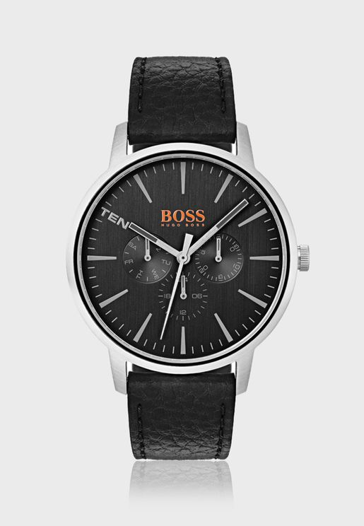 1550065 Copenhagen Leather Strap Watch