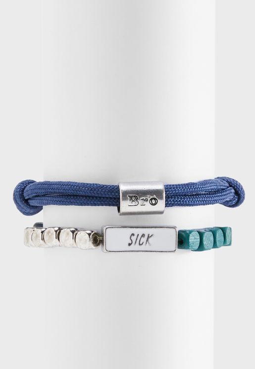 Climbing Cord Row Bracelets Set