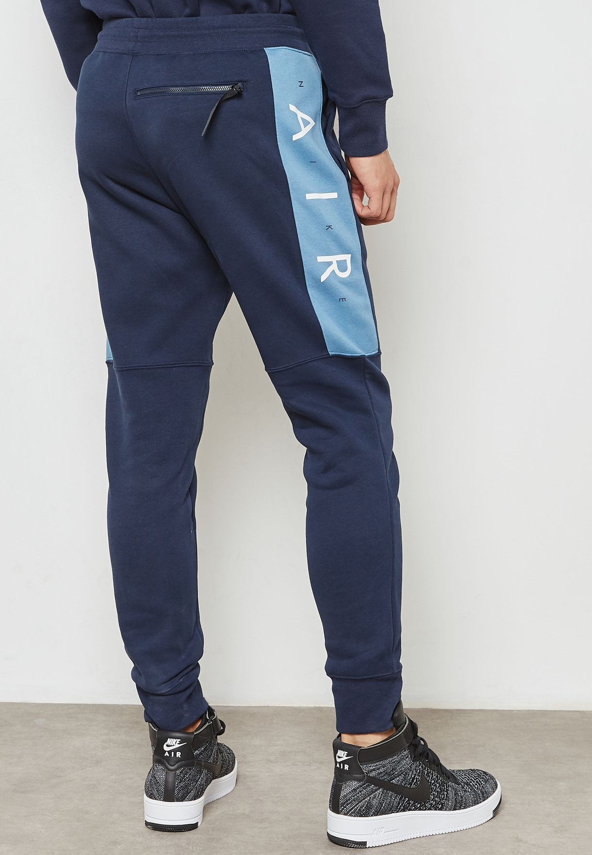 bae7d86af1f Shop Nike navy Air Fleece Sweatpants 886048-451 for Men in Saudi ...