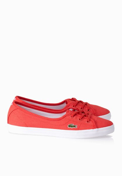 Shop Lacoste red Ziane Chunky Res Sneakers 29SPW1027RR1 for Women in  Globally  LA014SH04KZF